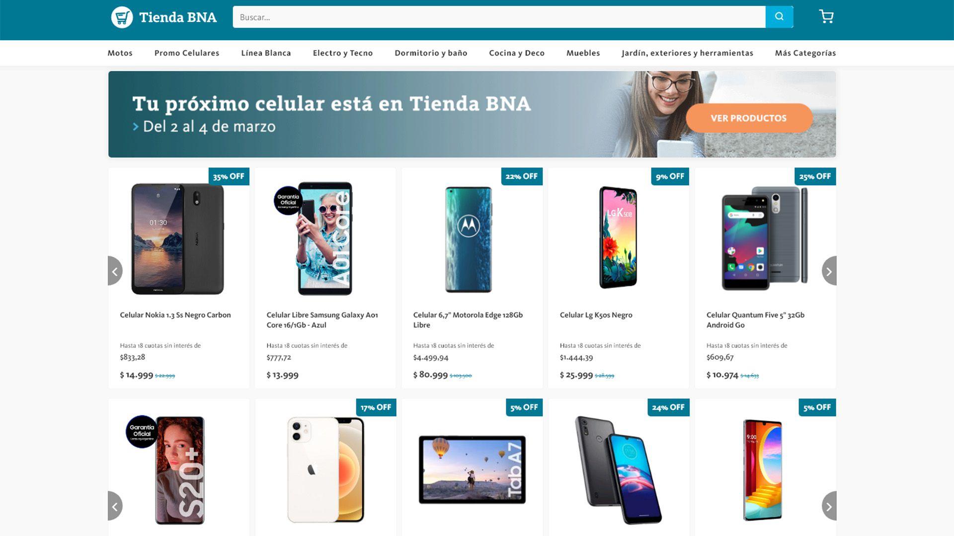 promo celulares Tienda BNA