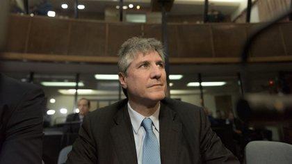 Boudou en una de las audiencias del caso Ciccone (Adrián Escandar)