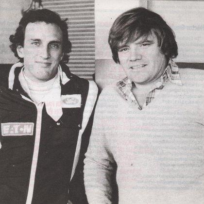 Con su amigo y gran rival en la pista: Luis Rubén Di Palma