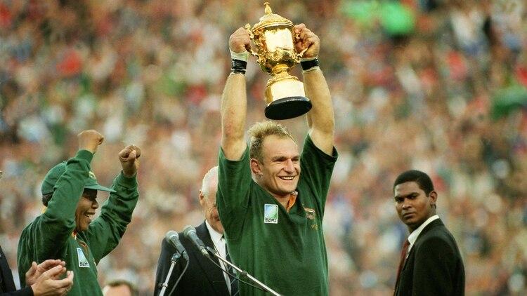 El recordado título obtenido por Sudáfrica en 1995 con la presencia de Mandela (Foto Shutterstock)