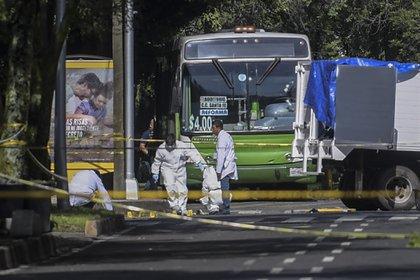 Rafael O. y Edgar O murieron en el lugar del ataque, (Foto: AFP)