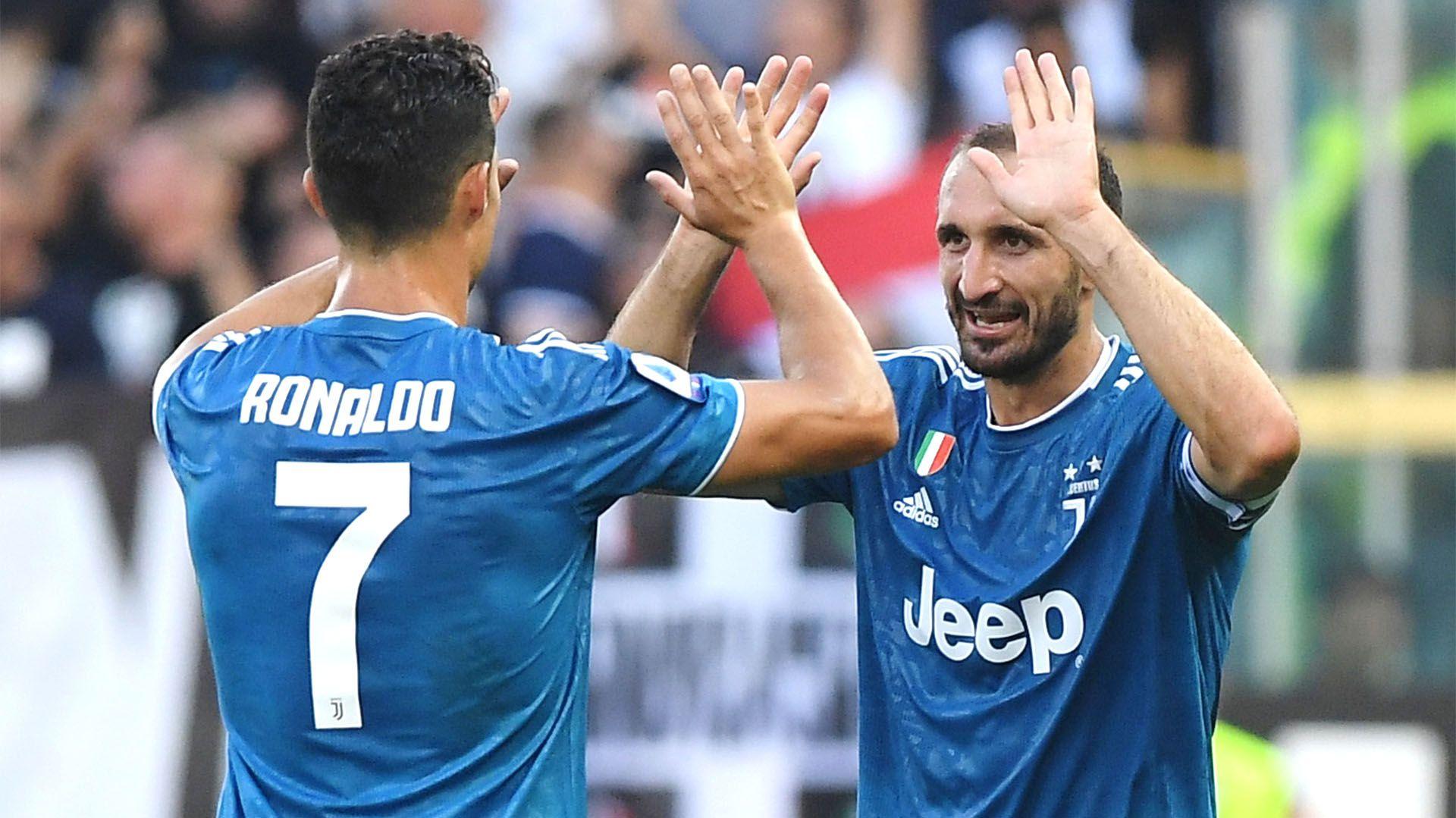 Chiellini defendió a Ronaldo - REUTERS/Alberto Lingria