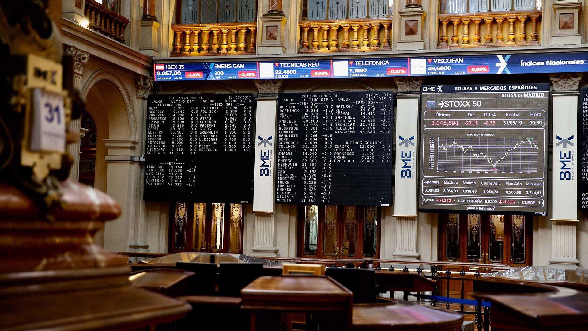 El índice Ibex de la bolsa de Madrid (EFE/archivo)