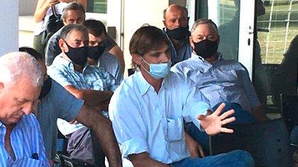 Matías Peluffo, presidente de Caprolecoba, también participó de la reunión en Trenque Lauquen (Foto Gentileza: Jorge Rabanal - Tierra Adentro)