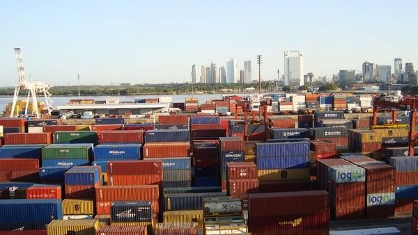 vista del Puerto de Buenos Aires.