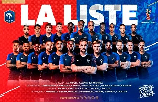 Francia debutará el 16 de junio frente a Australia