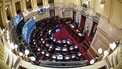 Sesión remota en el Senado de la Nación