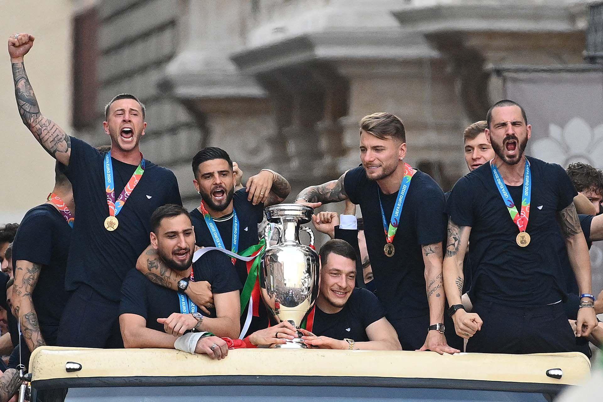 festejos italia campeon euro roma