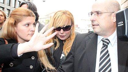 Última aparición en público: Giselle Rímolo en Tribunales.