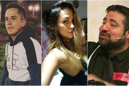 Brian del Prado (i) y Nataly Michel fueron asesinados. Christian Sánchez (d) reveló la existencia de un catálogo sexual (Instagram)