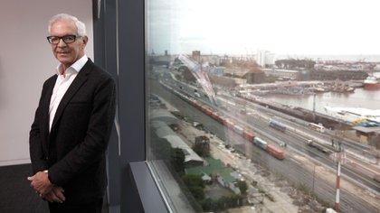 El empresario Eduardo Costantini en sus oficinas del microcentro porteño