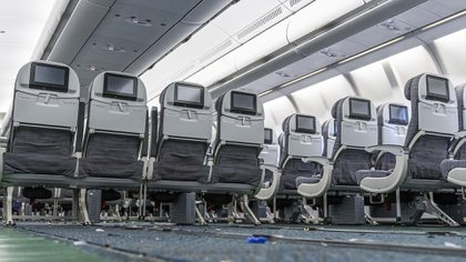 In the new renovation that they made to the plane, 127 seats were removed from the center row