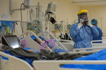 Personal médico de la Unidad de Cuidados Intensivos (UCI) de un hospital de Quito (EFE/Mauricio Torres/Archivo)