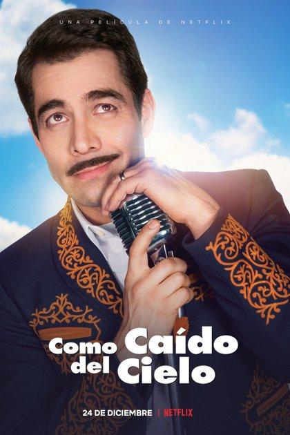 """Poster oficial de la película """"Como caído del cielo"""" (Foto: Twitter @@NetflixLAT)"""
