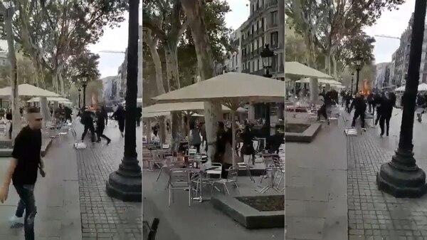 Varios grupos se enfrentaron lanzándose sillas y otros objetos