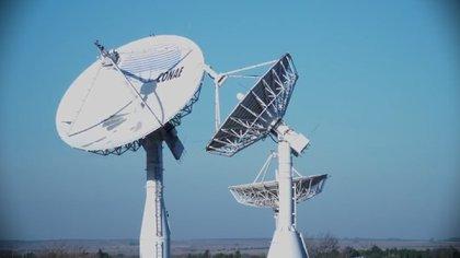 Las antenas de Conae en Falda del Cármen, en Córdoba servirán para monitorear al satélite argentino y obtener los resultados de sus mapeos