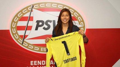 Cecilia Santiago, la portera del PSV que buscan abrirle paso a las mujeres mexicanas en el extranjero (Foto: Instagram/ @ceci_santiago)