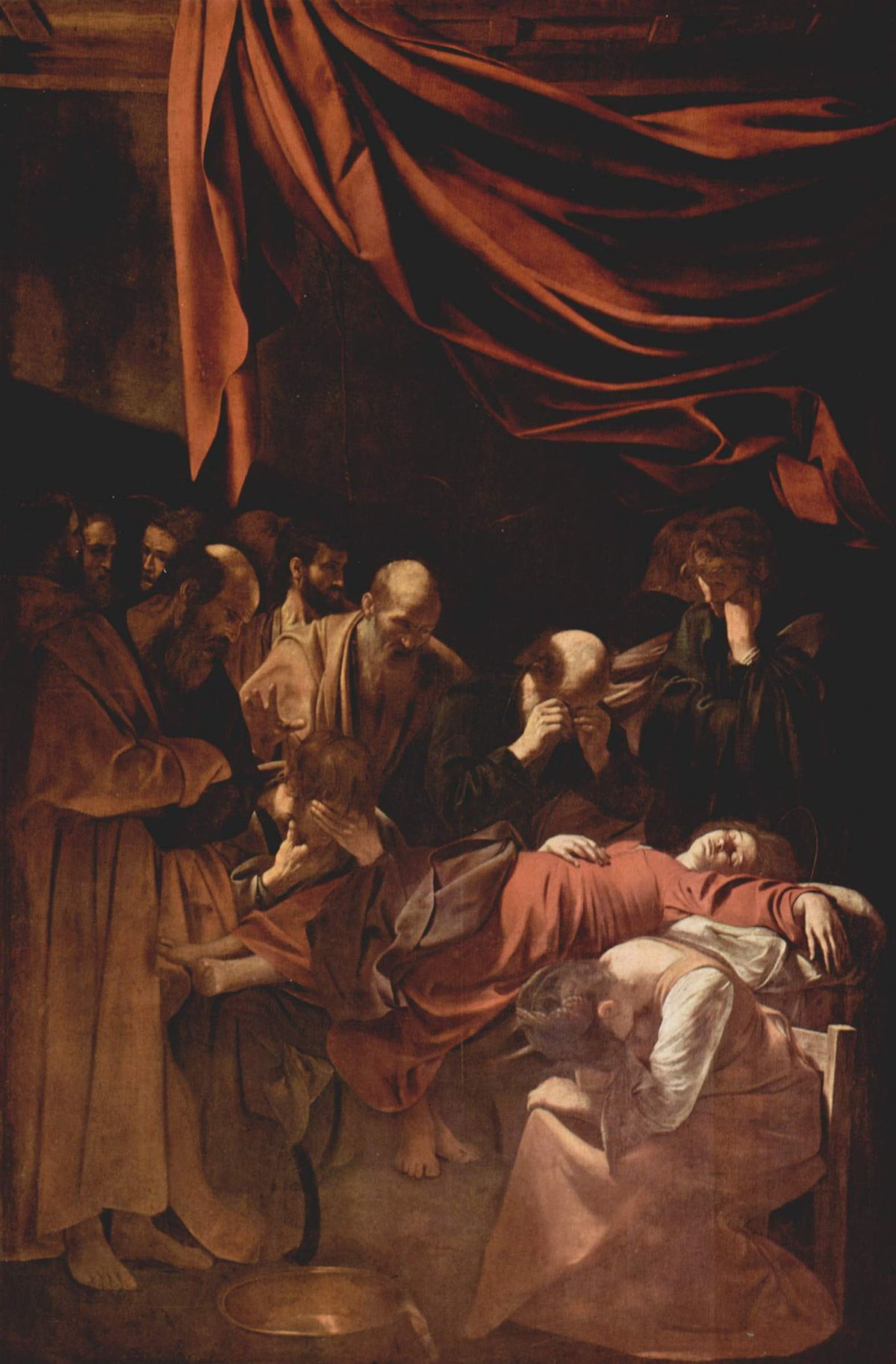La muerte de la virgen Caravaggio