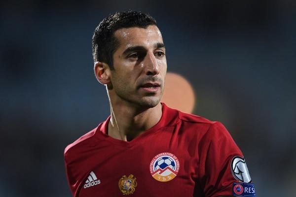 Henrikh Mkhitaryan, figura de Armenia y del Manchester United (AFP)
