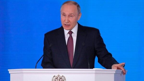 Putin durante su discurso de este miércoles. (Reuters)