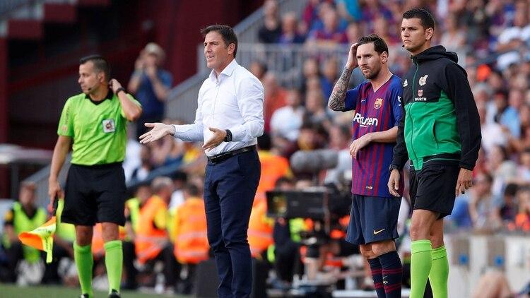 f85510ca64efb El momento del ingreso de Messi al campo  no alcanzó con su presencia para  ganar