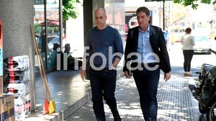 Horacio Rodríguez Larreta y Diego Santilli