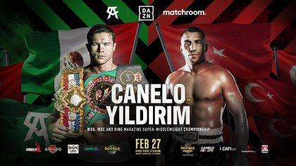 El sábado en Miami, el boxeador de 30 años expondrá sus cinturones de peso supermedio del Consejo Mundial de Boxeo (CMB) y la Asociación Mundial (AMB) (Foto: Twitter@Canelo)