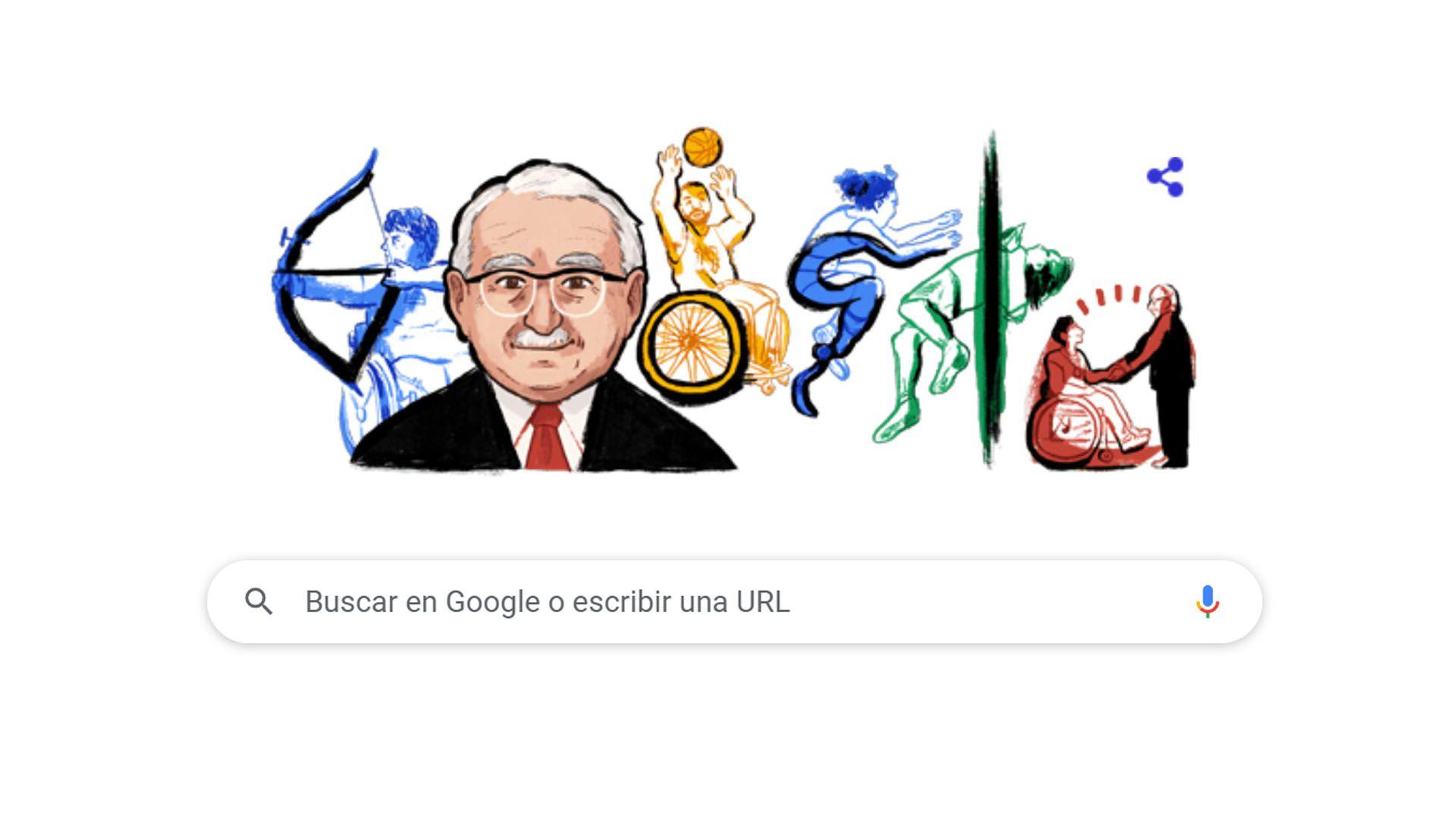 doodle google neurologo Ludwig Guttmann