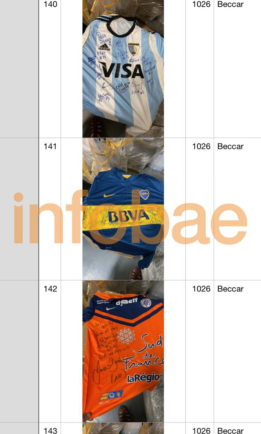 inventario de bienes de Maradona