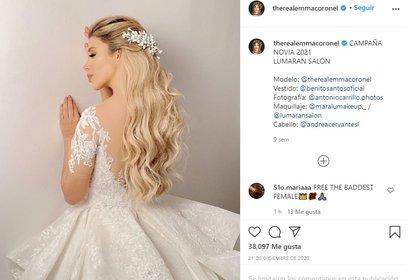 Última foto de Emma Coronel en Instagram (Foto: Captura de pantalla de Instagram @therealemmacoronel)