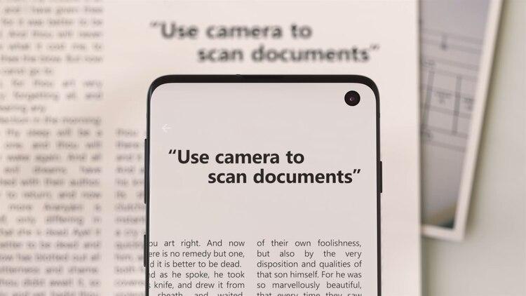 Tomando una foto, se puede crear un documento en formato PDF (Foto: Especial)