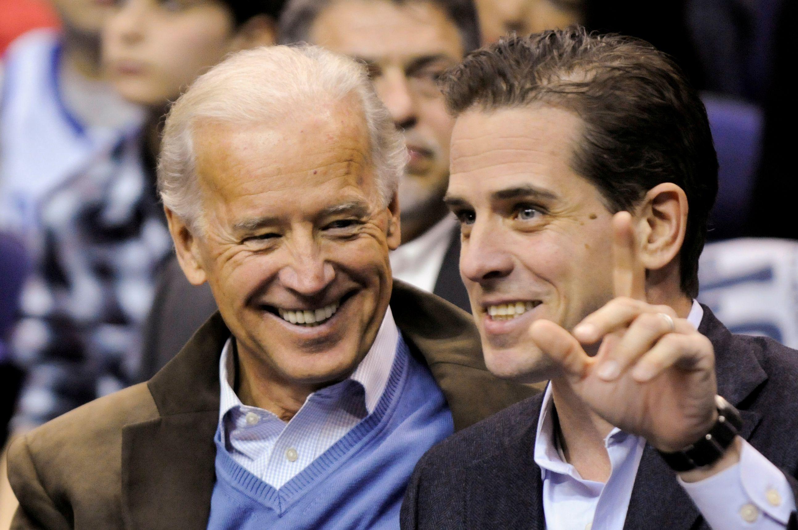 Joe Biden with his son Hunter Biden. REUTERS/Jonathan Ernst/File Photo