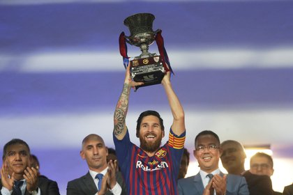 Messi ha ganado 34 títulos con el Barcelona (Reuetrs)