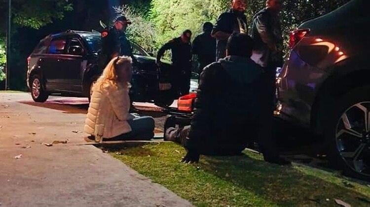 Ernestina Sodi mientras esperaba después del incidente (Especial)