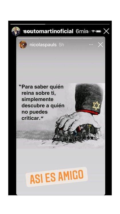 Sports journalist Martín Souto endorsed Pauls' sayings