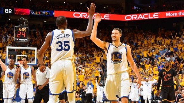 Los Warriors con los grandes favoritos (@NBA)
