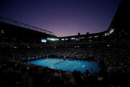 Una postal de Melbourne Park, la casa del primer Grand Slam de la temporada de tenis (Reuters)