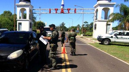 El operativo de Gendarmería de mediados de este mes.