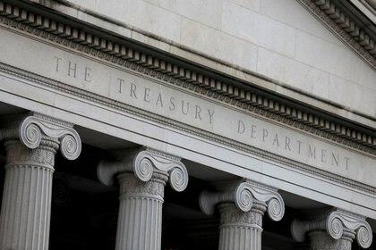 Fachada del Departamento del Tesoro de Estados Unidos, en Washington, D.C. (Foto: Reuters)
