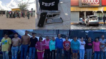 Más de 20 integrantes del Cártel de Santa Rosa de Lima fueron detenidos en Celaya (Foto: Secretaría de Seguridad de Guanajuato)