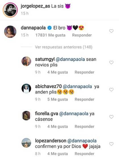 Sus admiradores volvieron a pedirles que formalicen una relación sentimental (Foto: Instagram)