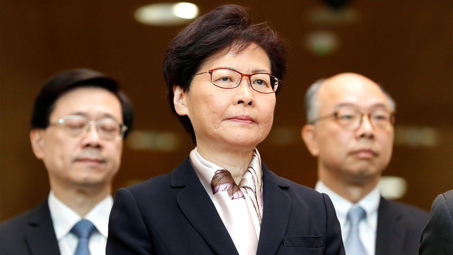 La jefa del Gobierno de Hong Kong, Carrie Lam. (REUTERS/Kim Kyung-Hoon)