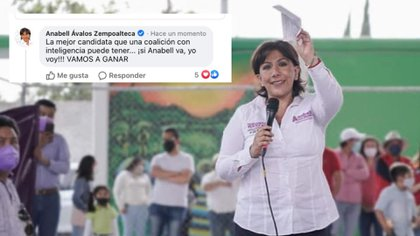 Autoaplausos: tunden en redes a candidata del PRI-PAN-PRD por error en Facebook