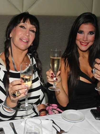 Moria y Andrea cuando eran amigas (Foto: Verónica Guerman)