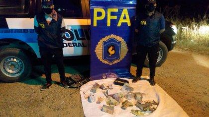 El dinero secuestrado por la Policía Federal