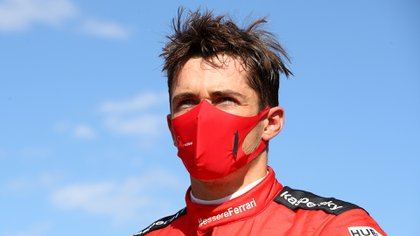 FILE PHOTO: Formula One F1 - Austrian Grand Prix - Red Bull Ring, Spielberg, Styria, Austria - July 5, 2020  The runner up Ferrari's Charles Leclerc wearing a protective face mask after the race, as F1 resumes following the outbreak of the coronavirus disease (COVID-19)   Mark Thompson/Pool via REUTERS/File Photo