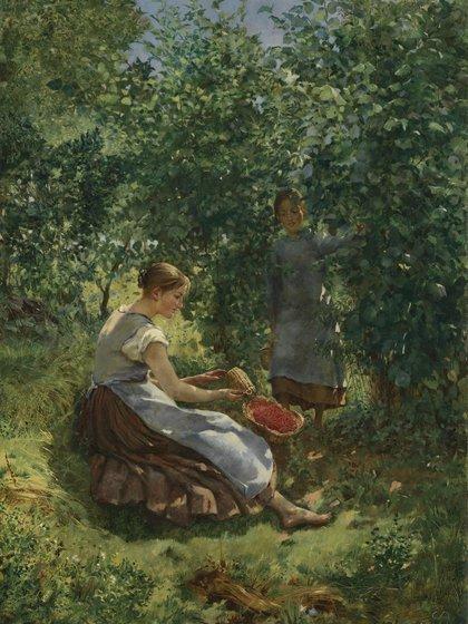 """""""Chicas con frutillas"""" (1889) de Cuno Amiet"""