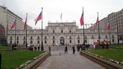 Plaza de la Constitución, en Santiago de Chile