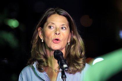 En la imagen, la vicepresidenta de Colombia, Marta Lucía Ramírez (EFE/ Ricardo Maldonado Rozo/ archivo)