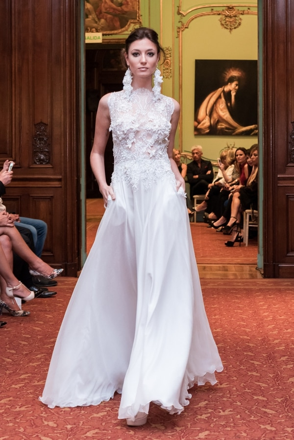 Alta costura, glam y estilo, en un cautivante desfile de vestidos de ...